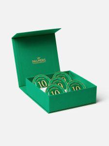 5 Palmers Münzen in der Geschenkebox + Banderole