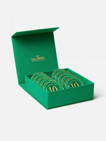 10 Palmers Münzen in der Geschenkbox + Banderole